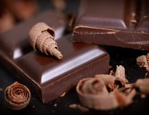 Dark chocolate - Macro HD wallpaper