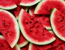 Delicious slices of watermelon - Fresh summer fruits