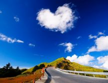 Big heart on the sky - fluffy cloud