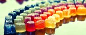 Sweet rainbow made from colored jelly - HD wallpaper
