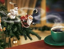 Christmas accessories love coffee flavour - HD wallpaper