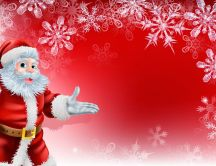 Hello from Santa Claus - Happy winter Holiday
