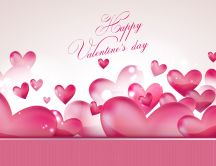 Lots of pink lovely hearts - Happy Valentines Day