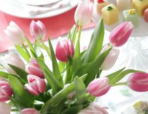 Wonderful tulips bouquet - Sweet spring season