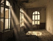 Sunlight through the broken windows - Old house