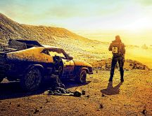 Golden light explosion - Fury road teaser car HD wallpaper