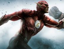 The Flash running fast and fight - HD movie wallpaper
