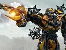 Yellow machine from Transformers 2018 - New movie