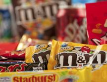 Delicious candies and chocolates - Mars M and M juice
