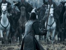 Jon Snow fight in Game of Thrones - HD wallpaper
