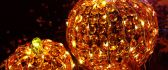 Pumpkin made from orange crystals - Light in fruits