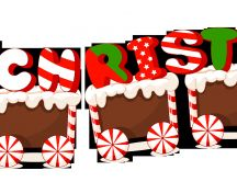 Christmas train made from ginger biscuit - HD wallpaper