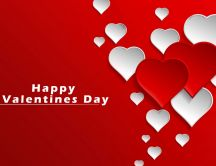 Wallpaper full with red and white hearts - Happy Valentines