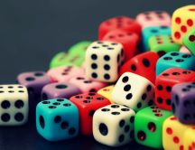 Lots of colorful dices - HD wallpaper