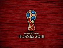 Fifa World Cup Russia 2018 - Red wooden background