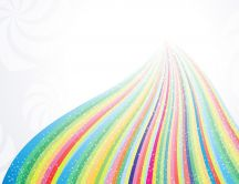 Rainbow road to the paradise - HD wonderful wallpaper