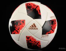 White and red Adidas football ball - Fifa World Cup Russia