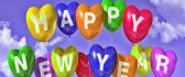 Happy New Year 2019  - Colorful ballons in the air