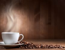 Delicios hot coffee every morning -Coffee beans HD wallpaper