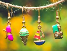 Summer accessories on Golden Pendants -miscellaneous photo
