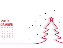 Happy Winter holiday begins on December 2019 - Calendar
