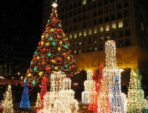 Lights for Christmas Holiday - Chicago Christmas Market 2019
