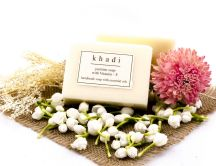 Handmade Khadi floral soap - Hd wallpaper
