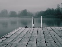 Gray day on the lake - HD mystique wallpaper