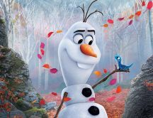 Olaf the funny snowman from Frozen animation movie