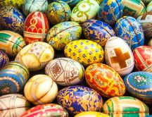 Easter eggs - Colourful painted eggs for Spring Holiday