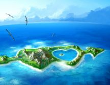 Cupidon hearts Island - Romantic place on the world