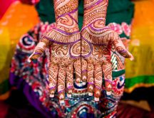 Art on your hands - Henna Tattoo in India is traditional