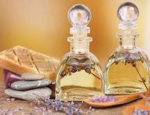 Essential oils - Beautiful Lavender flower perfume