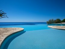 Wonderful infinity pool in Sardinia Italy - Summer time