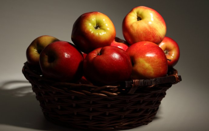 Basket of delicious apples
