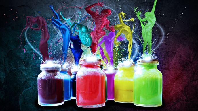 Jars of paint