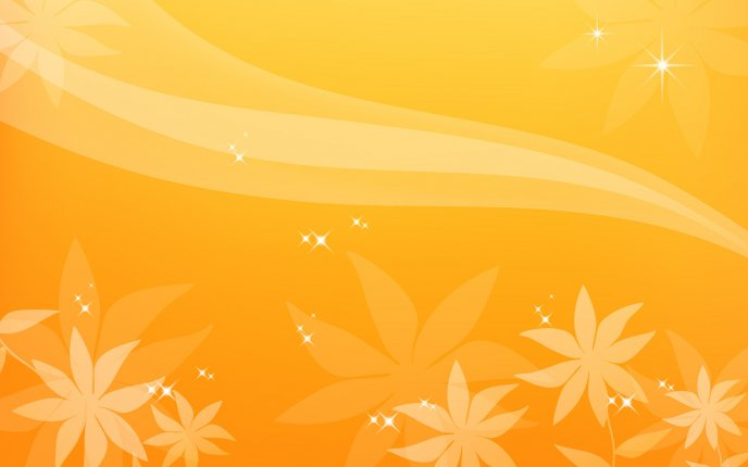 Orange flower desktop - orange background