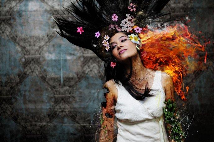 Flower art - woman HD ...