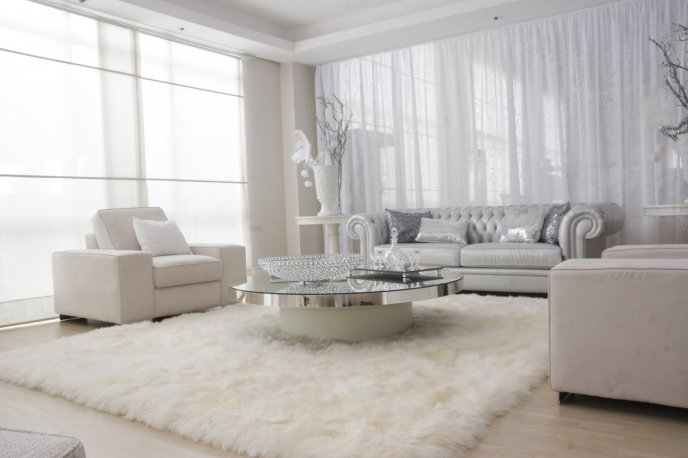 White room - luxury living room HD wallpaper