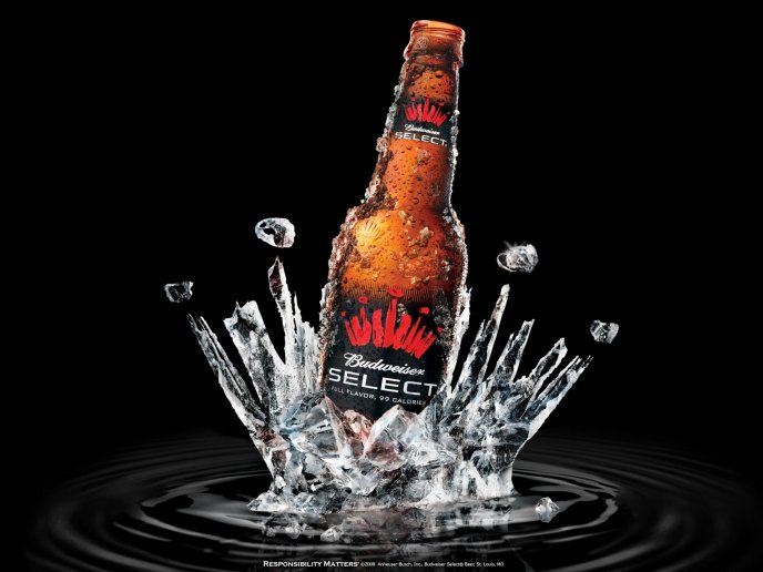 Drop a bottle of beer in a cold water