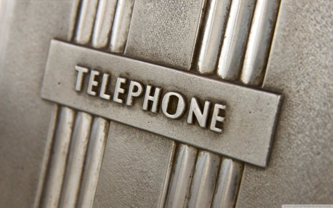 Steel engraving Wall - Message - Telephone