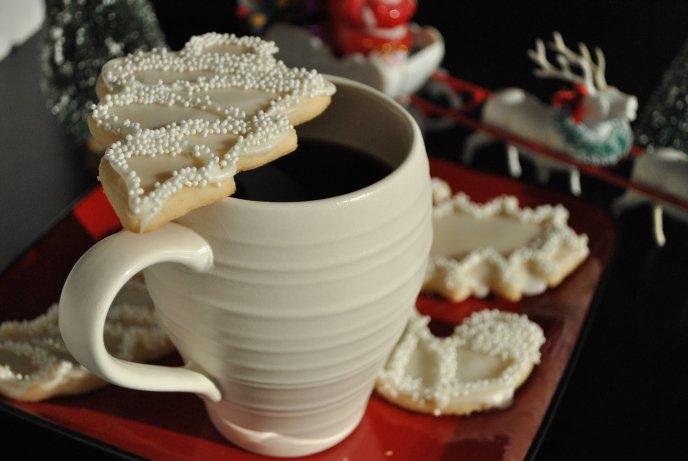 Good morning - Christmas cookies and a cup of strong coffee