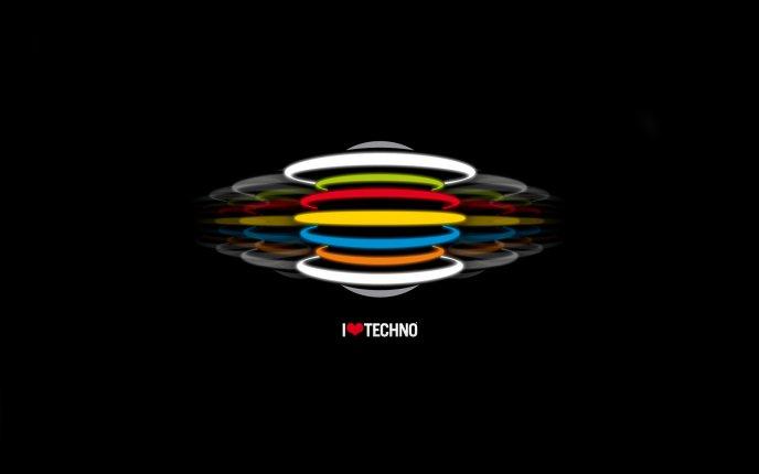 I Love Techno Hd Wallpaper