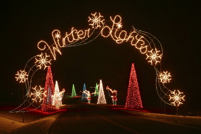 Gateway to the land of winter lights