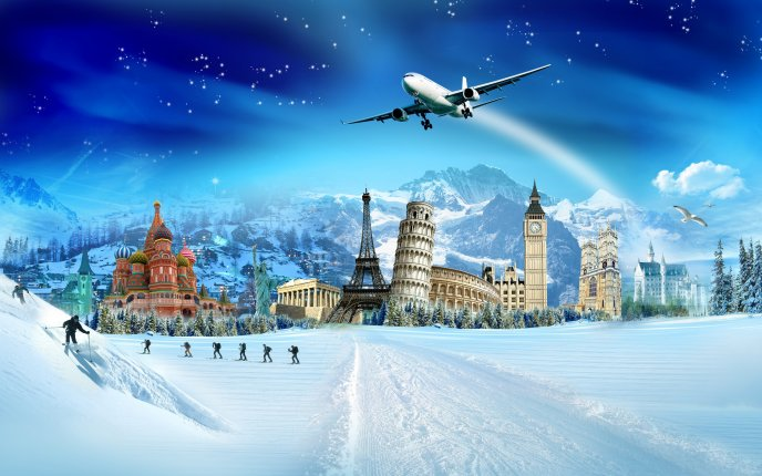 Every country has its attractions for winter