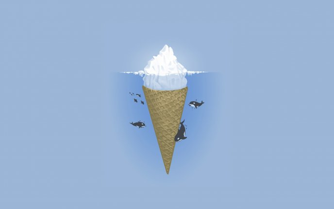 How see the whales an iceberg - an ice cream