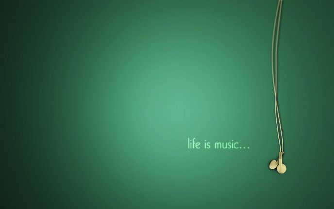 Green wall - Life is music