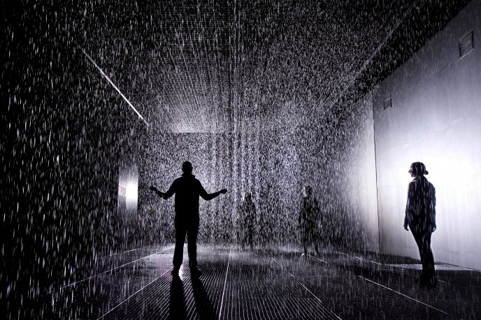 Rain in a room - HD wallpaper