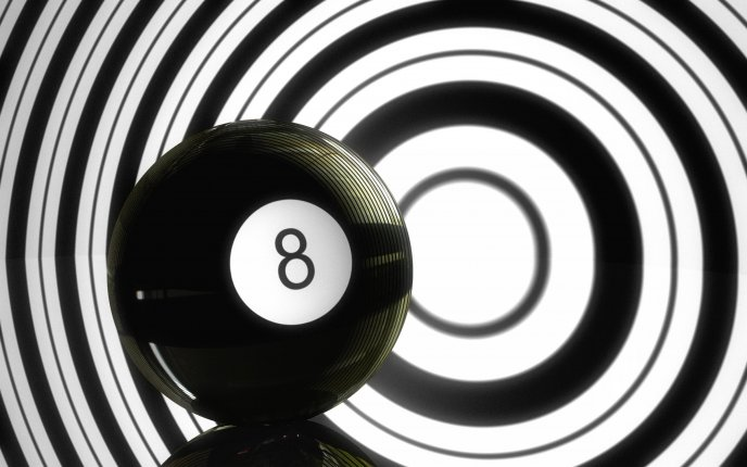 Mesmerizing wallpaper - The black ball from billiard