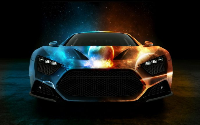 Fire and water - awesome design car
